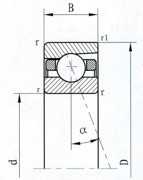 RGB格式的角接触球轴承剖析图(1)